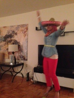 Anyway, whatever. Here's a picture of me dancing in a sombrero.