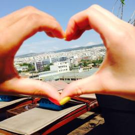 from my heart to yours! photo taken in Thessaloniki, Greece this summer  with #BadGirlDaiDai<3